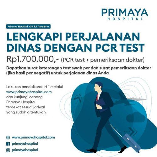 Paket PCR Test Perjalanan Dinas