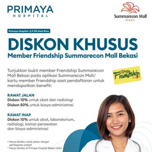 diskon khusus member friendship summarecon mall bekasi