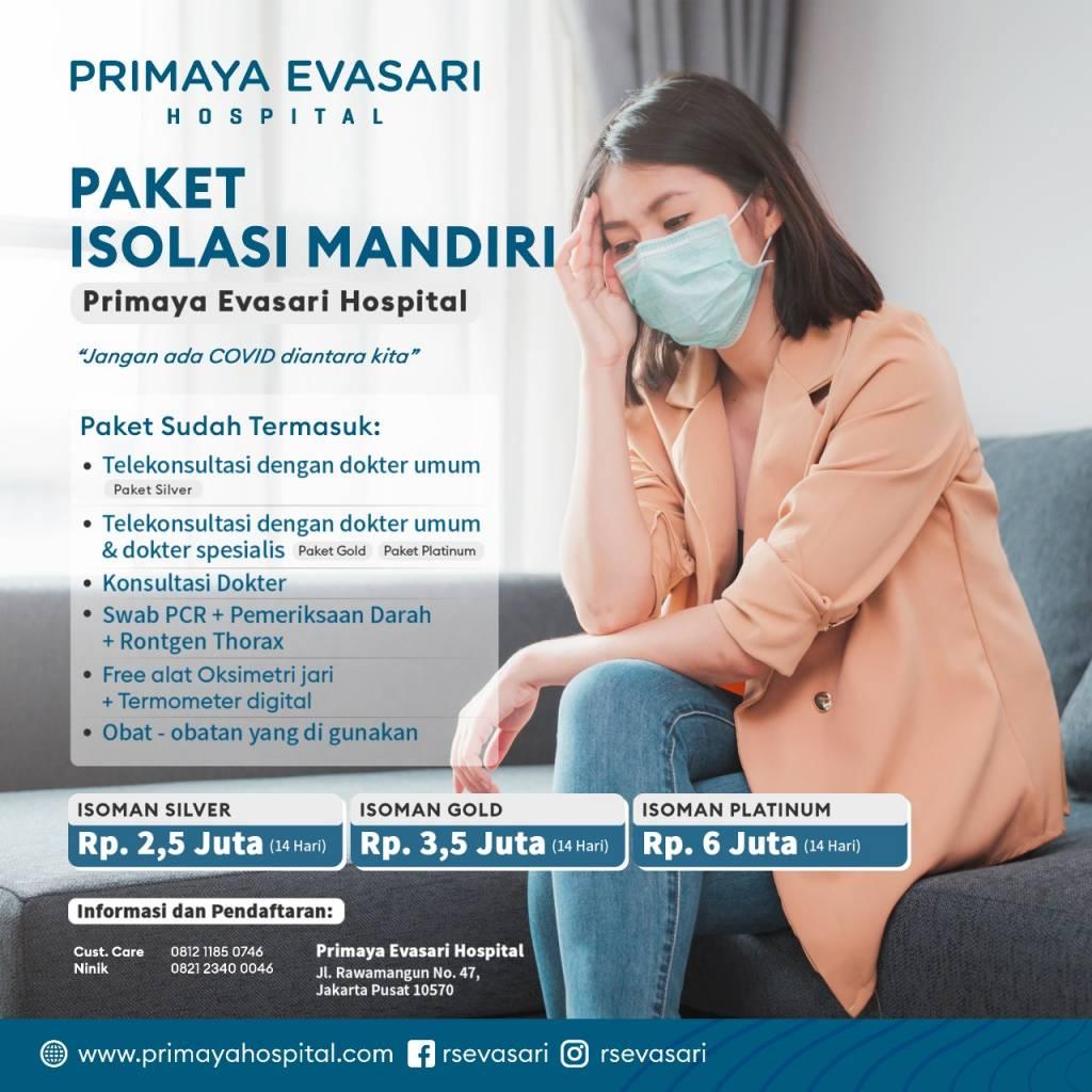 Paket Isolasi Mandiri - Primaya Evasari Hospital
