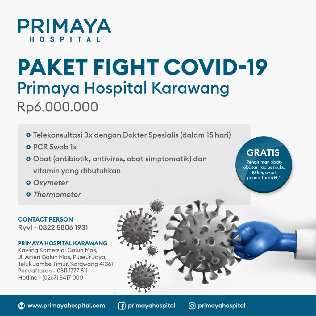 Paket Isolasi Mandiri Primaya Hospital Karawang