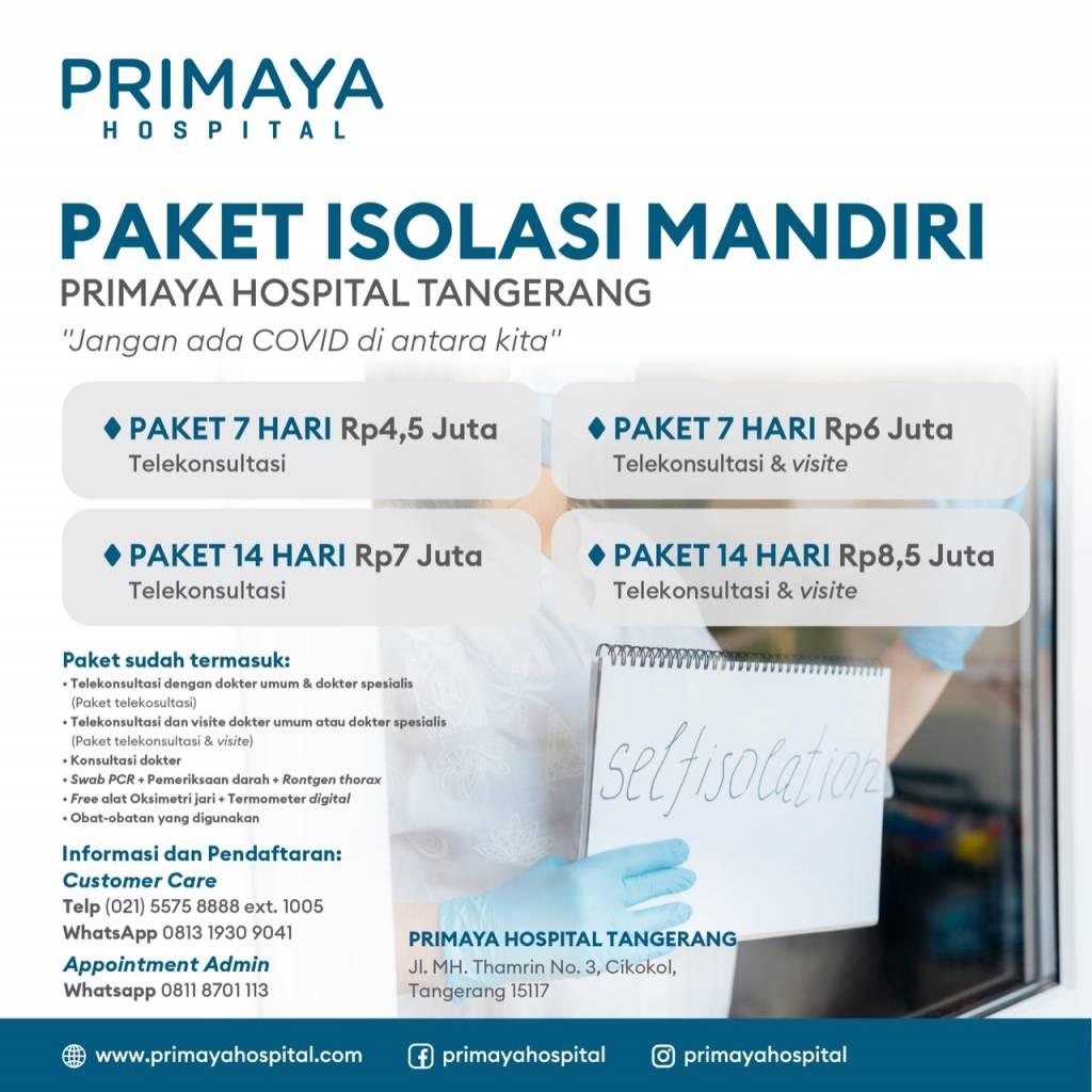Paket Isolasi Mandiri Tangerang