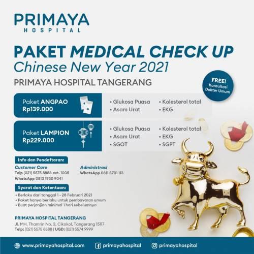 Promo Medical Check Up Chinese New Year 2021 Primaya Hospital Tangerang