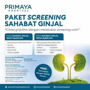 Paket Screening Sahabat Ginjal